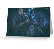 Terminator T800 & Robocop Greeting Card