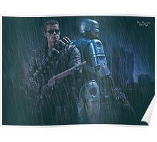 Terminator T800 & Robocop Poster