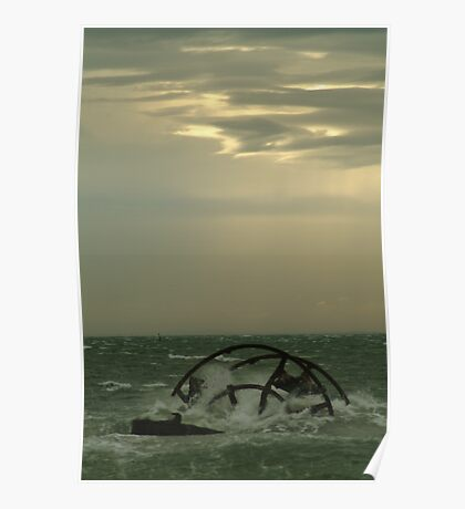 Joe Mortelliti Gallery - Shipwreck, Indented Head, Bellarine Peninsula, Victoria, Australia. Poster