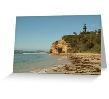 Joe Mortelliti Gallery - Black Lighthouse, Queenscliff, Bellarine Peninsula, Victoria, Australia. Greeting Card