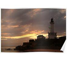 Joe Mortelliti Gallery - Green light, Point Lonsdale lighthouse, Point Lonsdale lighthouse, Bellarine Peninsula, Victoria,  Poster