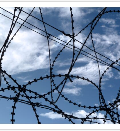 Barbed wire and Clouds Sticker