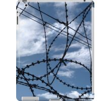 Barbed wire and Clouds iPad Case/Skin