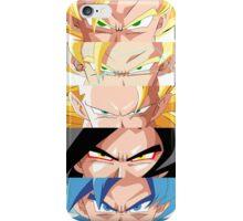 Goku Saiyan Forms iPhone Case/Skin