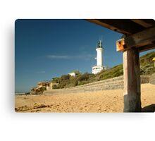 Joe Mortelliti Gallery - Blue skies, Point Lonsdale lighthouse, Bellarine Peninsula, Victoria, Australia. Canvas Print