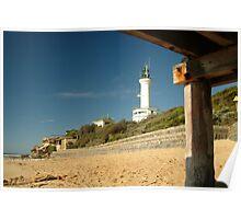 Joe Mortelliti Gallery - Blue skies, Point Lonsdale lighthouse, Bellarine Peninsula, Victoria, Australia. Poster