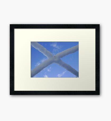 Saltire (snow and Scottish sky) Framed Print