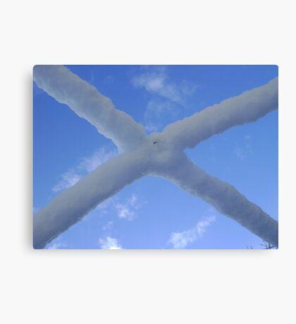Saltire (snow and Scottish sky) Canvas Print