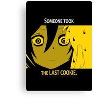 Quotes and quips - the last cookie Canvas Print