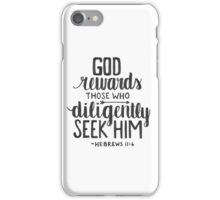 Hebrews 11:6 iPhone Case/Skin