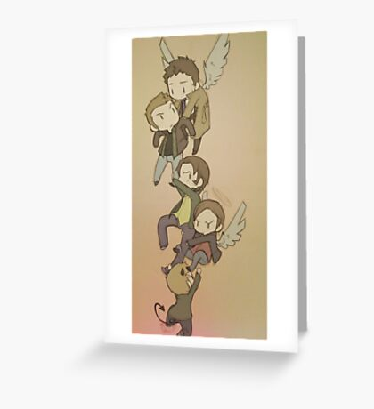 Holding on to SPN  Greeting Card