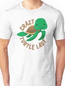 Crazy Turtle Lady (circle) new cute turtle Unisex T-Shirt