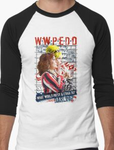 Absolutely Fabulous. AbFab. What Would Patsy and Edina Do, Darling? WWPEDD.  Men's Baseball ¾ T-Shirt