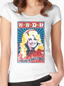 Dolly Parton. What Would Dolly Do? Nashville Country Music Women's Fitted Scoop T-Shirt