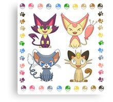 Cat Pokemon (Plus) Canvas Print