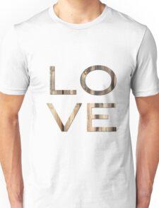 Love ~ Rustic Barn Wood Unisex T-Shirt