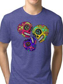 3 Little Sugar Skulls Tri-blend T-Shirt