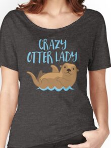 Crazy OTTER lady (new swimming) Women's Relaxed Fit T-Shirt