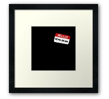 Hello! Kill Me Please Framed Print