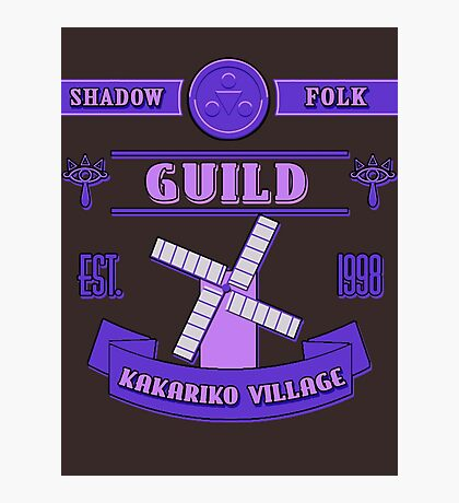 Legend of Zelda - Kakariko Village Guild Photographic Print