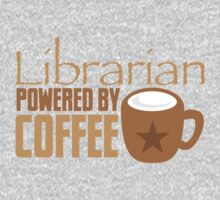 Librarian powered by Coffee One Piece - Short Sleeve
