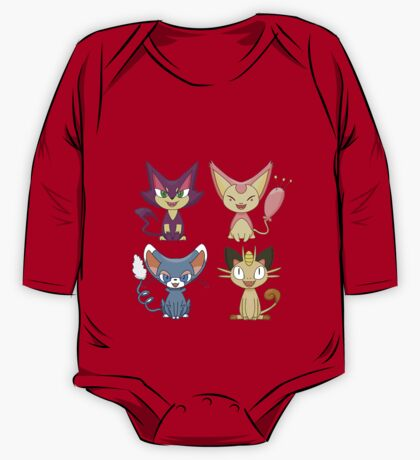 Cat Pokemon (Plain) One Piece - Long Sleeve