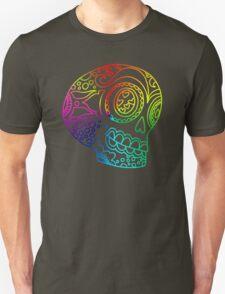 Rainbow Lines Sugar Skull in Love Unisex T-Shirt