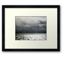 Storm is coming, Bridge in San Francisco Framed Print