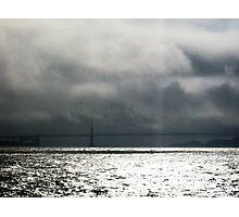 Storm is coming, Bridge in San Francisco Photographic Print