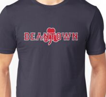 Beantown (red on navy) Unisex T-Shirt