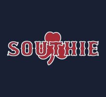 Southie (red on navy) Baby Tee