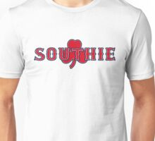 Southie (red on white) Unisex T-Shirt