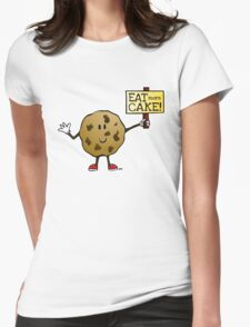 Eat More Cake! Womens Fitted T-Shirt