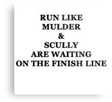 Run Like Mulder and Scully Metal Print
