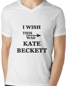 I wish this was Kate Beckett Mens V-Neck T-Shirt