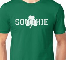 Southie (white on green) Unisex T-Shirt