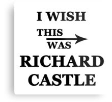 I wish this was Richard Castle Metal Print