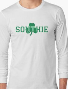 Southie (green on white) Long Sleeve T-Shirt