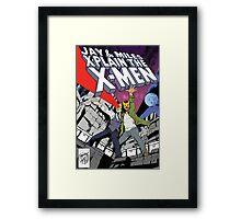 Jay and Miles X-Plain the X-Men Framed Print