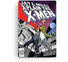 Jay and Miles X-Plain the X-Men Canvas Print