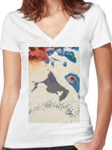 Abstract Textures #3 Women's Fitted V-Neck T-Shirt
