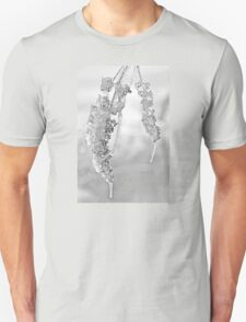 Winter Crystal - Just Before Spring - Black and White Unisex T-Shirt