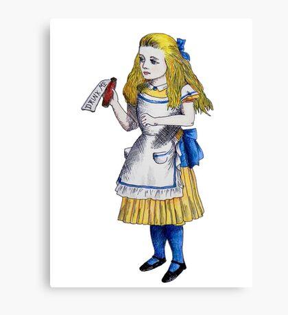 Alice 'Drink Me' Canvas Print