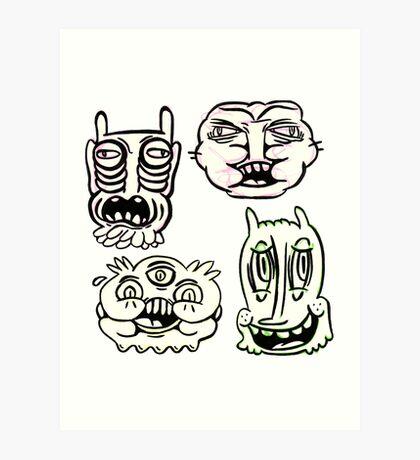 Ugly Buddies Art Print