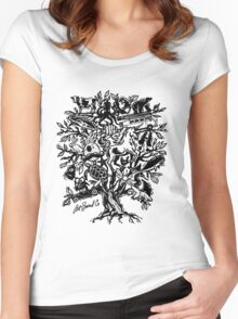 Art Tree Women's Fitted Scoop T-Shirt