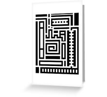 Right Angled Squiggles Greeting Card