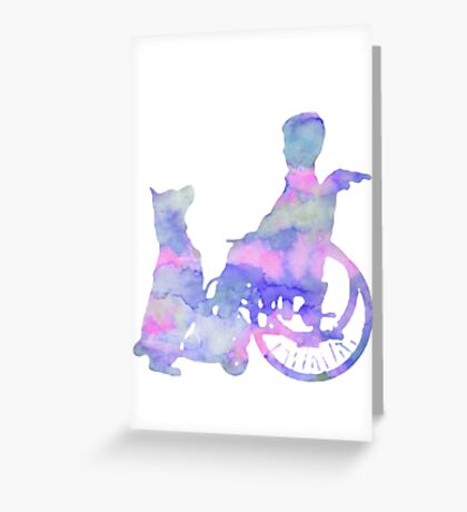 Assistance Dog and Child Greeting Card