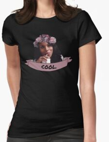Olivia Pope - Flower Crown Womens Fitted T-Shirt