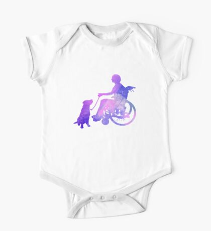 Woman and Assistance Dog One Piece - Short Sleeve