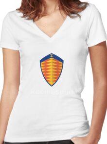 koenigsegg retro Women's Fitted V-Neck T-Shirt